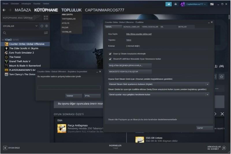 CS GO Başlatma Seçenekleri Nelerdir