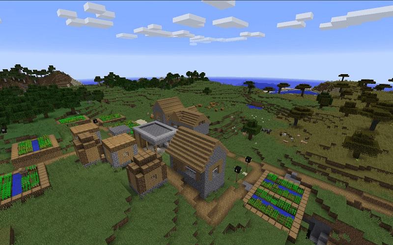 Minecraft köy kodları (köy)