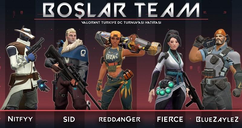 Valorant Türkiye Discord Turnuvası ikincisi Boşlar Team