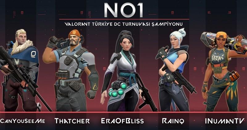 Valorant Türkiye Discord Turnuvası Birincisi NO1
