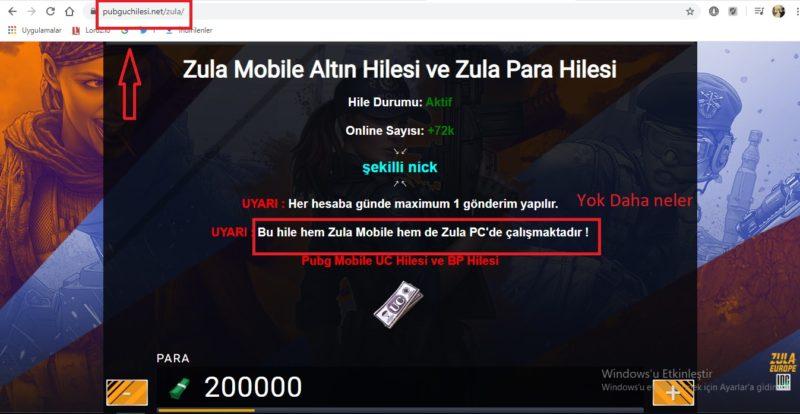 Zula Mobile Hile Yapma