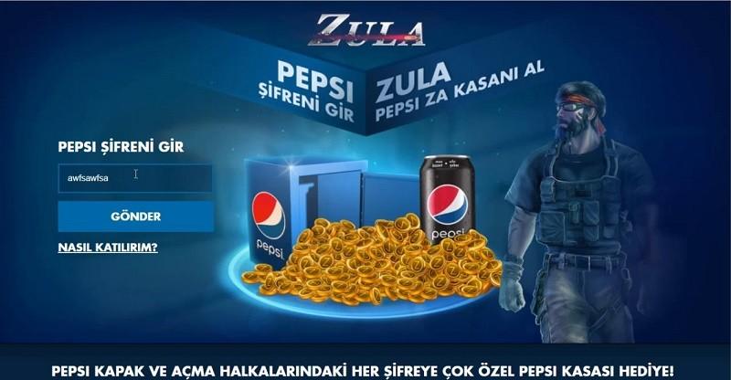 Zula Pepsi Kodları Güncel 2020
