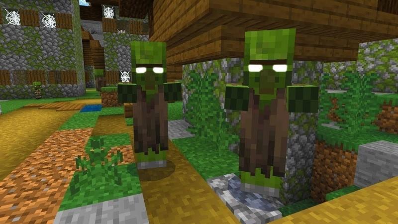 Minecraft zombi köy kodu