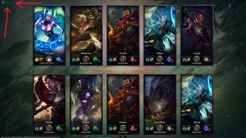League of Legends Ping Testi