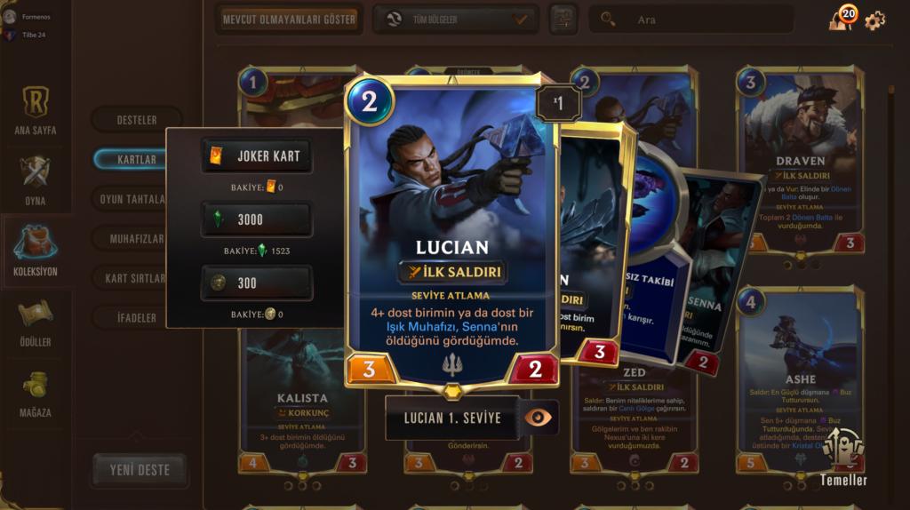 Legends of Runeterra Şampiyonlar