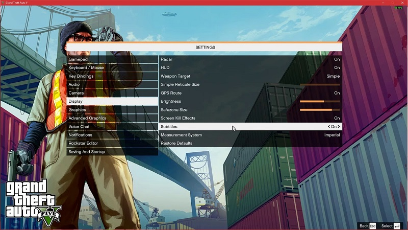 GTA 5 altyazı açma
