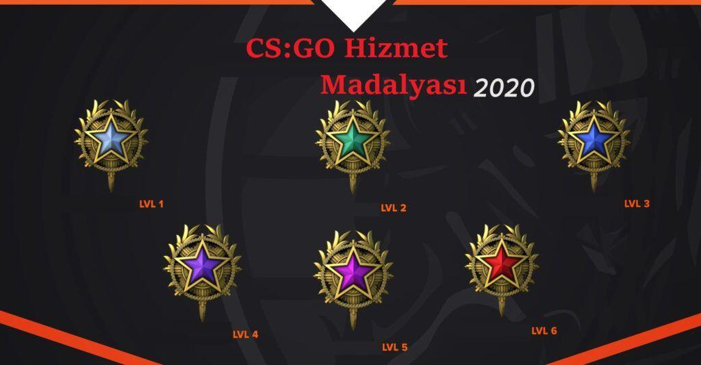 cs go hizmet madalyası nasıl alınır